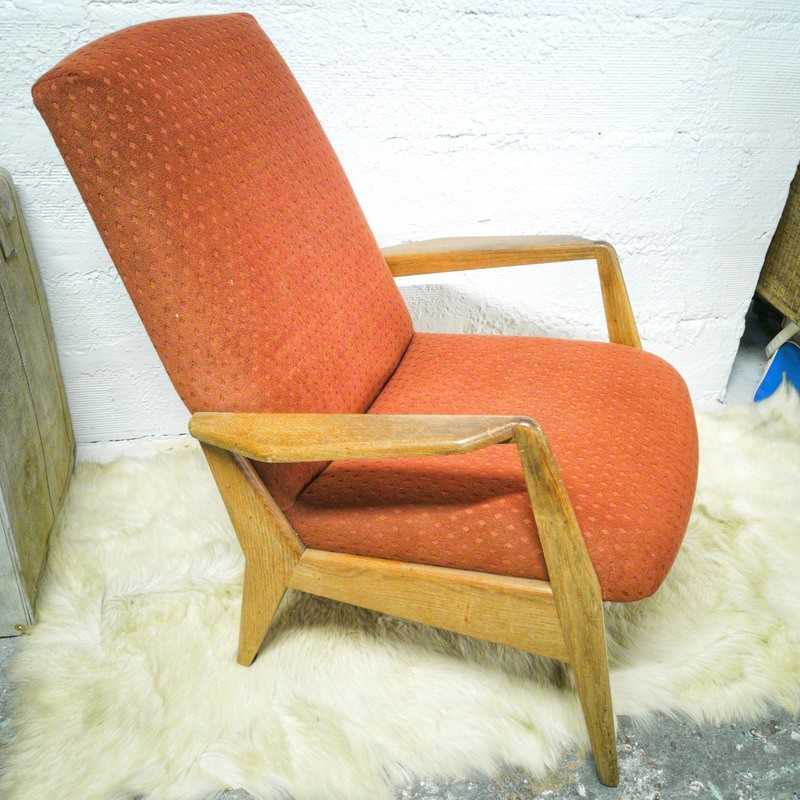 Fauteuil vintage scandinave   Old'Upcycling