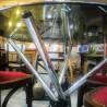 Table vintage plateau en verre   Old'Upcycling
