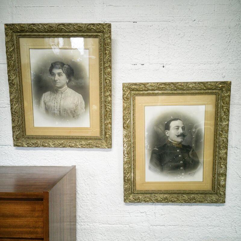 Portrait familial encadré   Old'Upcycling