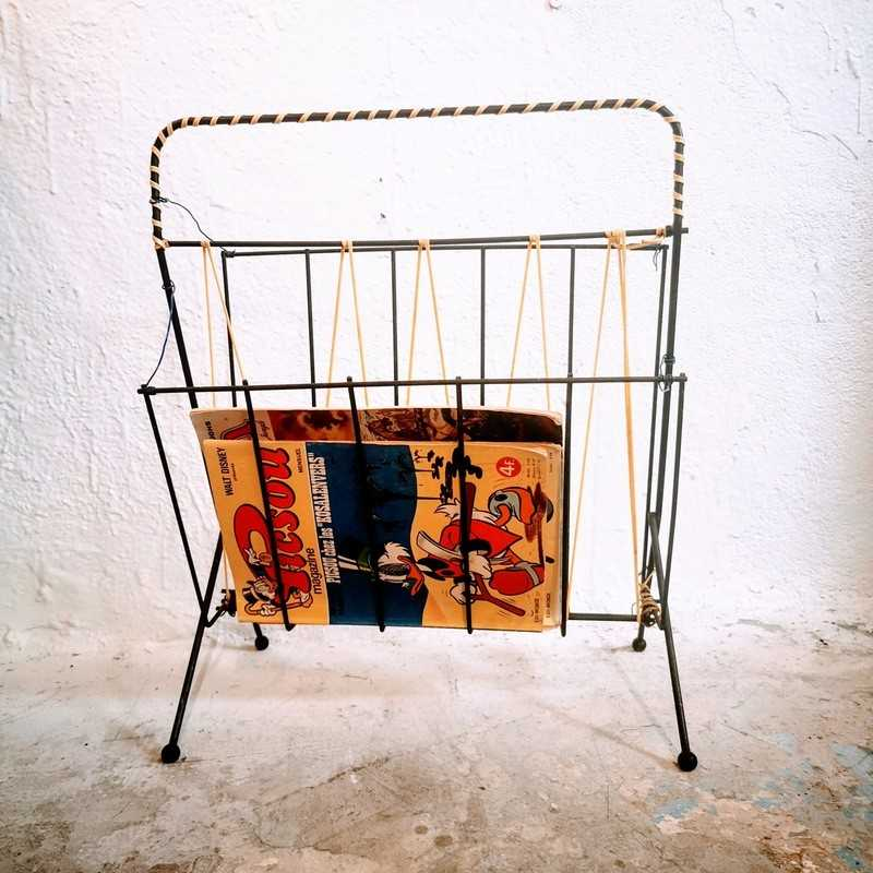 Porte-revues vintage scoubidou | Old'Upcycling
