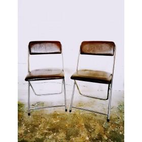 Paire de chaises pliantes...