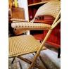Chaise à bras dorée pliante