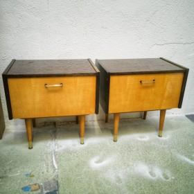 Paire de chevets vintage