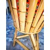 Porte-plantes tripode en rotin et bambou | Old'Upcycling
