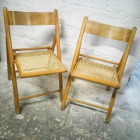Paire de chaises pliantes à...