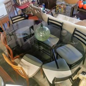 Table vintage chromée et...