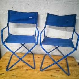 Paire de fauteuils pliants...