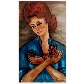 Portrait de la dame aux...