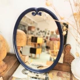 Miroir ovale en fonte