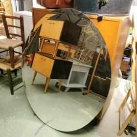 Miroir ovale biseauté 97x80cm