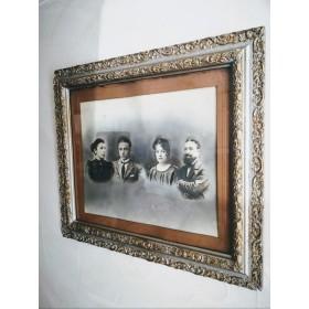 Portrait familial encadré