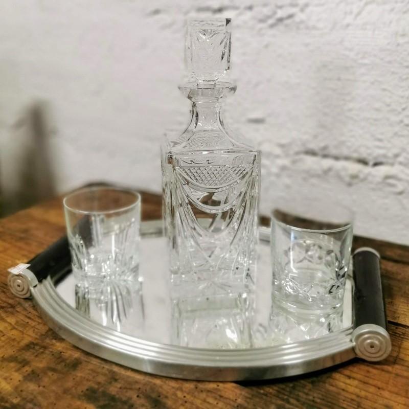 Carafe à whisky en cristal   Old'Upcycling