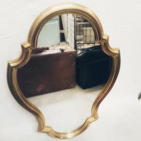 Miroir baroque doré style...
